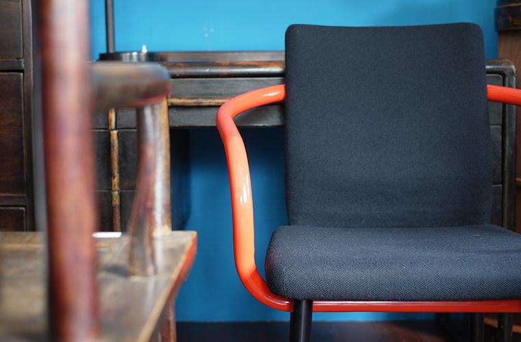 sottsass mandarin chair knoll