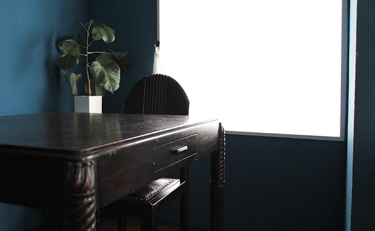 shanghai ART DECO square table with drawer / 上海アールデコ スクエアテーブル 引出し付