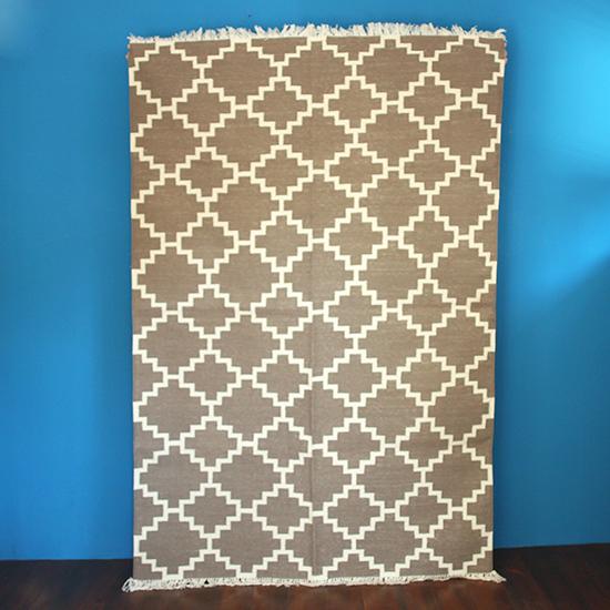 cotton rug geometric pattern A / コット...   cotton