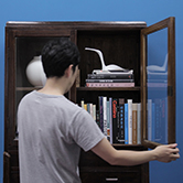 book shelf with drawers - 書棚 引出し付き