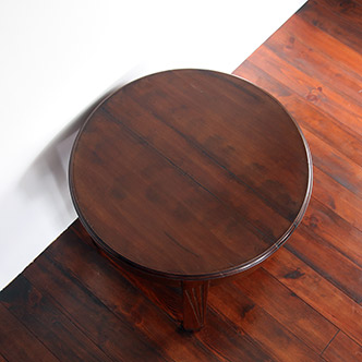 round coffee table - 丸机