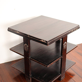 square table with shelf - 四角机 棚付